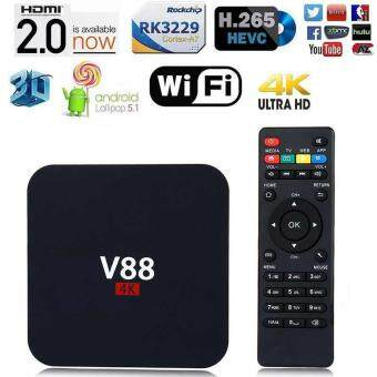 Harga V88 Quad Core Android 5.1 Smart TV Box WiFi RK3229 4K HD H.265 Media Player