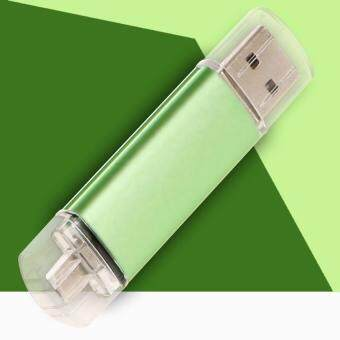 Harga OTG USB Stick 1TB Mobile Pen USB Flash Drive Drive Micro USB SmartPhone Pendrive OTG Smart Phone U Disk(Green)