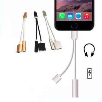 Harga 2 in 1 Charger and Audio Adapter USB Cable for iPhone 7/7 Plus USB Charging Cable 3.5mm Jack Audio Cable for iPhone 7/7 Plus