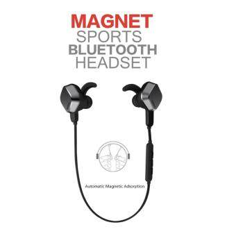 Harga Remax S2 Earphone Unique Magnet Headset (Black)