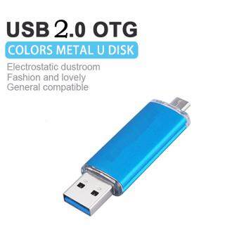 Harga OTG USB Stick 1TB Mobile Pen USB Flash Drive Drive Micro USB SmartPhone Pendrive OTG Smart Phone U Disk(Blue)