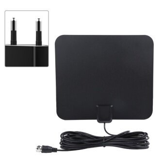 Harga 50 Miles Range High Gain Indoor Amplified Digital TV HDTV Antenna with 16ft Cable(EU Plug)