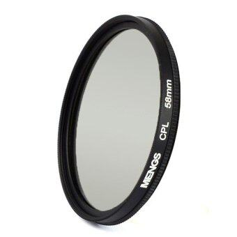 Harga MENGS® 58mm CPL Lens Filter ands Circular Polarising Filter Protector With Aluminum Frame For Canon Sony Nikon Fuji Pentax Olympus Etc SLR Camera