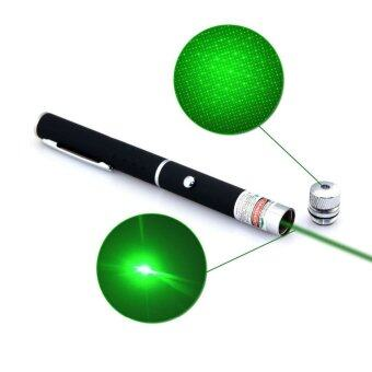 Harga Star Cap High Power Laser Pointer Pen 2in1 5mw Powerful Green Laser (2AAA Batteries Included)