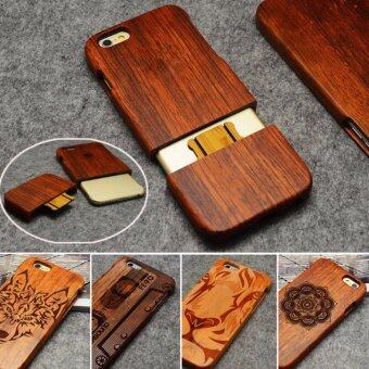 Harga LYBALL 100% Handmade Real Bamboo Wooden Wood Case cover for iPhone 6 6s Plus