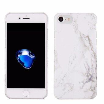 Harga LYBALL White Print Crystal Marble Pattern Hard Case Cover for iPhone 7 4.7 (White)