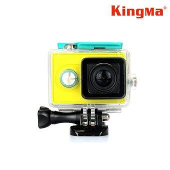 Harga (Genuine) Kingma 40m Waterproof Case for Xiaomi Yi Action Sports Camera + Bobber + 12 pcs Anti-Fog Inserts