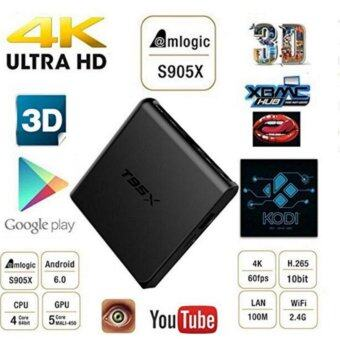 Harga T95X Android 6.0 TV Box Amlogic S905X Quad Core 4K*2K 2.4G WiFi CODI 16.1 Set Top Box 1G RAM 8G ROM Smart Media Player