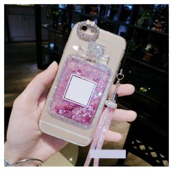 Harga Quick sand Glitter TPU with lanyard phone case for Huawei Honor 5A/Y6 II(Pink bottle)
