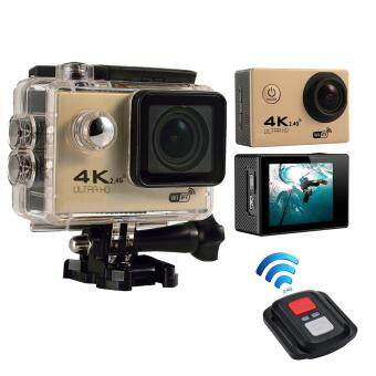 Harga Leegoal 4K HD Wifi Action Camera 2.0 Inch 170 Degree Wide Angle Lens Action Camera WIFI 4k Waterproof Sports Action Camera, Gold