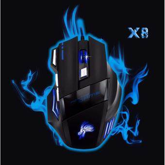Harga 7 Keys LED Optical USB Wired Gaming Mouse Mice For PC Laptop Computer MAC mause Gamer Laptop 1000DPI-5500DPI Black Blue
