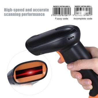 Harga RADLL RD-S1 USB Wired Handheld Barcode Scanner Bar Code Reader for Supermarket Library Express Company Retail Store Warehouse Black