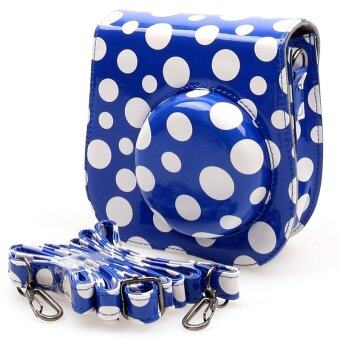 Harga KEEP/Fujifilm Instax Mini 8 Lens Pop Leather Case Polka Dot (Blue) sku: 2168