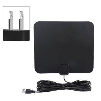 Harga 50 Miles Range High Gain Indoor Amplified Digital TV HDTV Antenna with 16ft Cable(US Plug)