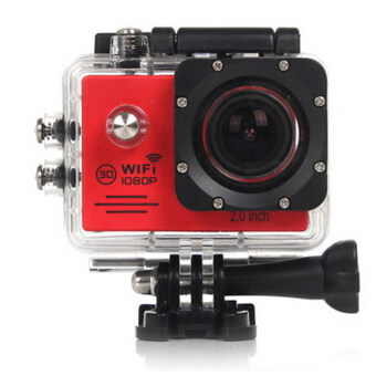 Harga 2-inch LCD Wifi Action Camcorder SJ7000 Sports Waterproof Sports Camera Video Cameras (Red)