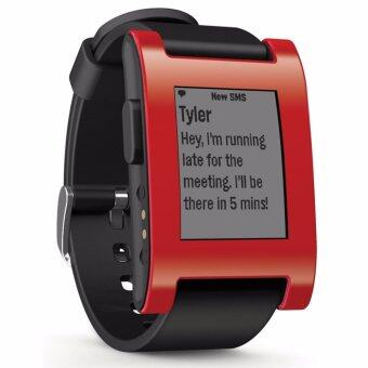 Harga Pebble Smart Watch for iPhone and Android Devices (Red)
