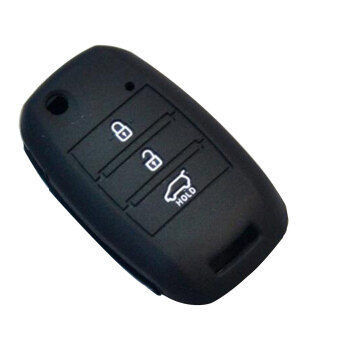 Harga Car Silicone Flip Folding Key Cover For KIA rio Sportage 2016 ceed Sorento cerato K2 K3 K4 K5 flip key case remote Black