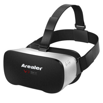 Harga Arealer VR SKY All-in-one Machine Virtual Reality Headset 3D Glasses 1080p 5.5Inch TFT Display Screen 100��FOV Supports 70Hz FPS 2D / 3D / Panorama / Three-dimensional Immersive WiFi Bluetooth 4.0 w /USB port TF Card Slot US Plug (Intl)