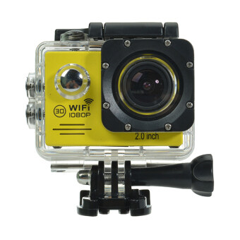 Harga SJ7000 Action Camera 2 Inch LCD Wifi Waterproof Sports Cam (Yellow)