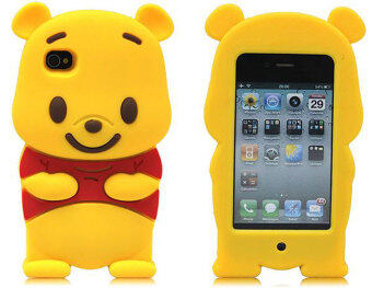 Harga Leegoal Yellow Winnie The Pooh Bear Soft Silicone Case Cover Fit for the IPhone 4 4S