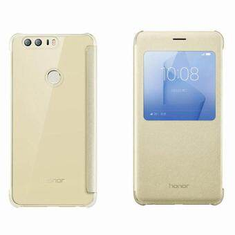 Harga huawei honor 8 case 100% original from huawei company smart pu leather flip case