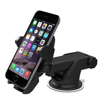 Harga New Generation Rotable Long Neck Easy One Touch Car Mount Best Windshield Cell Phone Holder - Adjustable Width 5.5-9CM