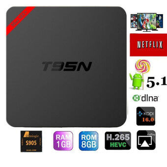 Harga niceEshop T95N Android Tv Box MINI Amlogic S905 Quad Core Android Media Player 5.1 1GB/8GB Wifi Kodi 16.0 Fully Loaded HD 4K Smart TV Box