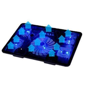 Harga Ajusen 5 Fan 2 USB Laptop Cooler Cooling Pad Base LED Notebook Cooler Computer USB Fan Stand For Laptop PC 10''-17''