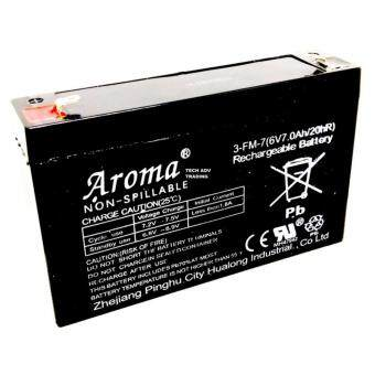 Harga Aroma Back Up Battery 6V 7/7.2AH Rechargeable Seal Lead Acid Battery