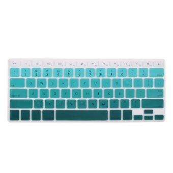 Harga HRH Rainbow Series Silicone Waterproof Keyboard Protector Cover Film For Apple Macbook Pro retina 13 15 17 Air 13 inch (Gradient Green)