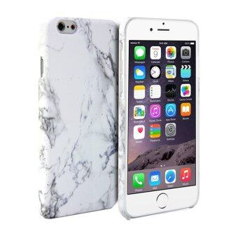 Harga LYBALL White Print Crystal Marble Pattern Hard Case Cover for iPhone 6S 4.7 (White)