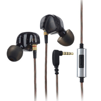 Harga KZ ATE Universal 3.5mm Plug In-ear Earphone - Translucent Black