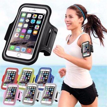 Harga Universal Mobile Phone Armband Bag Sports Running Jogging Gym Armband Arm Band Case Cover Holder for iPhone 6 7 Smart Phone 5Inches (Black)
