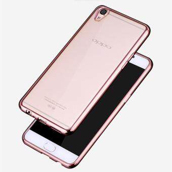 Harga HOECOGE Electroplated Mobile Phone Case For OPPO R9 Soft silicone Plating Protective Cover For OPPO R9 Shell