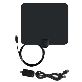 Harga 50 Miles Range F Male Connector Ultra-thin Digital Indoor TV HDTV Antenna with High Signal Capture of Coaxial Cable Signal Amplifier