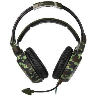 Harga 2017 Newly Updated Headset]SADES SA931 3.5mm Wire Headset with Microphone,Volum Control,Noise Isolating Stereo Sound for PC/PS/Mac/Phone etc (Camouflage)