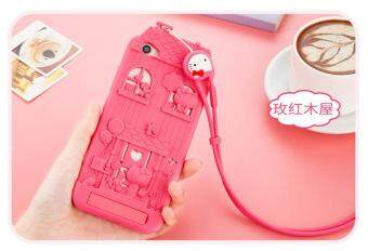 Harga For BKK Vivo V5 Plus 3D Cartoon Fabitoo Hello Kitty Phone Case Soft Silicone Rubber Back Cover With Lanyard