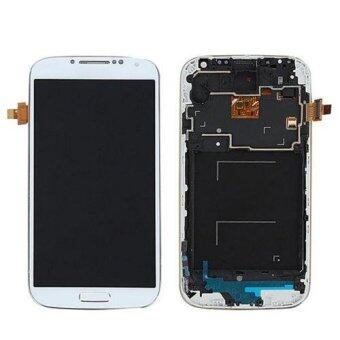 Harga LCD Display Touch Screen Digitizer+Frame For Samsung Galaxy S4 i9505 White AI1G