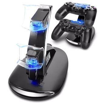 Harga PS4 Charger, Acecharming Dual USB Charging Charger Docking Station Stand for Playstation 4 PS4 / PS4 Pro / PS4 Slim Controller