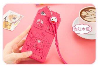 Harga For OPPO F1S A59 3D Cute Cartoon Original Fabitoo Hello Kitty Phone Case Soft Silicone Back Cover With Lanyard - Int'l