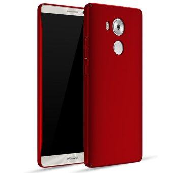 Harga Frosted Matte Hard Plastic Shockproof Protective Phone Case Cover for Huawei Mate 8 Mate8 (Red)