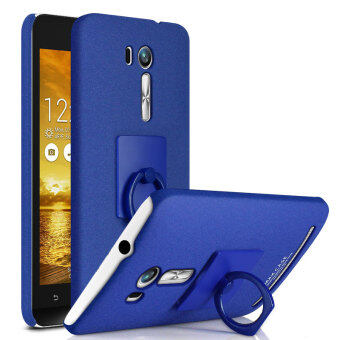Harga For Asus Zenfone Go TV/Go ZB551KL IMAK Matte Kickstand Hard Cover with Metal Ring - Blue