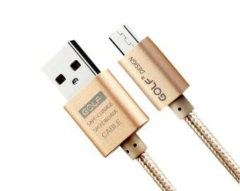 Harga GOLF 2M Micro USB Data Charging Cable for Andrioid (Gold)