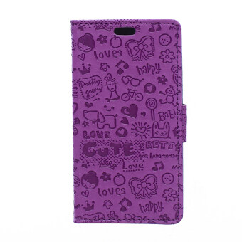 Harga Leather Cover for HTC ONE ME (Purple)