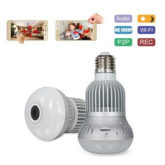 Harga HD 1080P Wifi Bulb IP Camera DVR Wi-fi H.264 Bulb Lamp Camera TF Card for Home Company Security Monitor New Controll By Phone APP