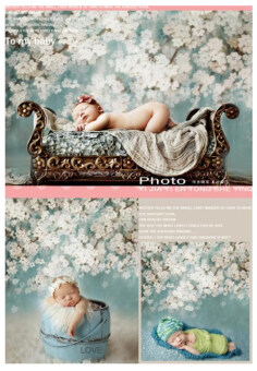 Harga Life Magic Box Backgrounds Newborn Photography Studio And Backdrops 150Cm*200Cm Blue White Flower Photography