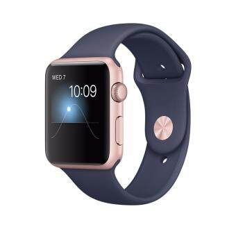 Harga Apple iWatch MNPL2 42mm Rose gold aluminium case with Midnight blue sport band (1 Year Apple Malaysia Warranty)