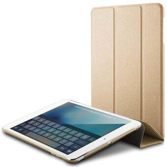Harga 2in1 Ultra thin Luxury Leather Protective Matte Case Folded Smart Cover Full Protector For Apple iPad 5/iPad Air 1 (Slim Gold)
