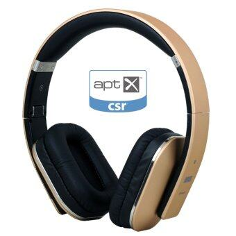 Harga August EP650 Bluetooth Wireless Stereo Headphone Earphone with Microphone,aptX and NFC (Gold)