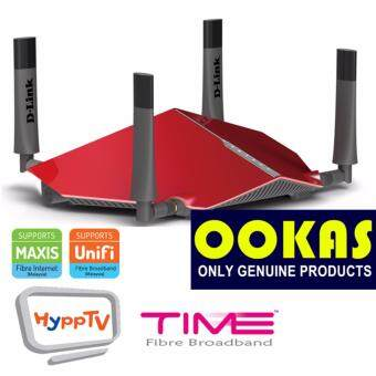 Harga D-Link DIR-885L AC3150 MU-MIMO Ultra Wi-Fi Wireless Dual Band Router Unifi Time Maxis Fibre Internet